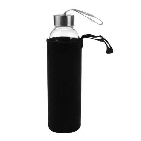 Bouteille Infuseur Thé Verre Resistant Noir