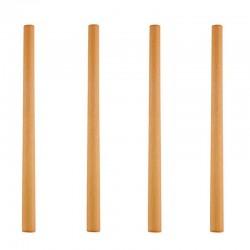 Paille Bambou ensemble de 4