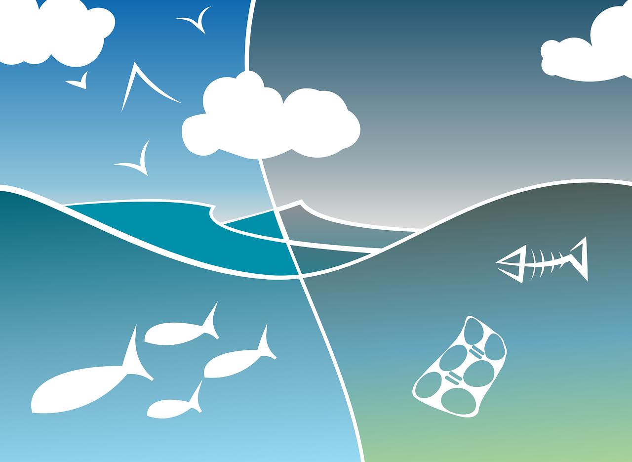 image article océans pollués